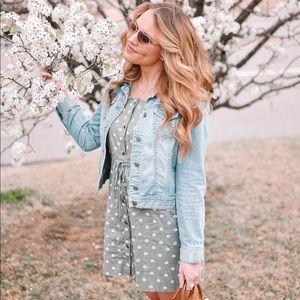 Floral Button Up Mini Dress